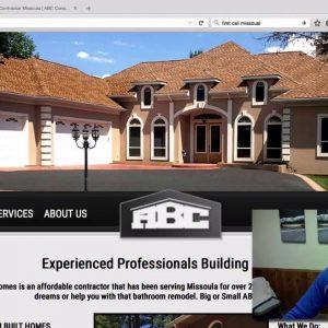 Before & After Web Design ABC Construction Missoula MT